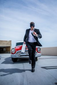 Curtis The Mentalist Running Blindfolded by Kacy Meinecke Photography