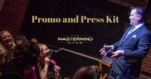 Press and promo kit for The Mastermind Show comedy mind reading show with Curtis The Mentalist