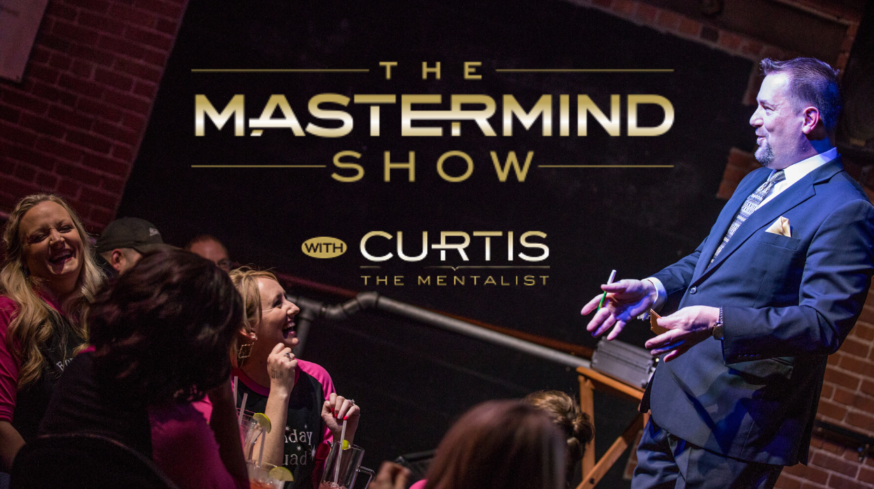 Curtis The Mentalist performs The Mastermind Show monthly at Wichita's Loony Bin Comedy Club
