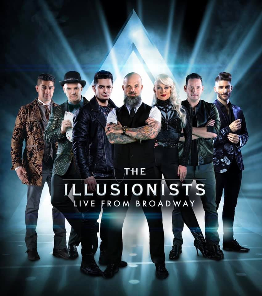 """Matt Johnson and the cast of """"The Illusionists."""""""
